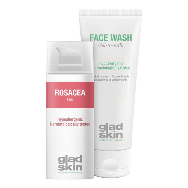 Gladskin Gladskin ROSACEA Gel Cleansing Set Large