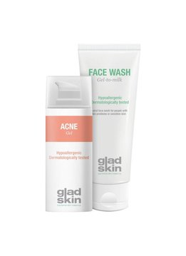 Gladskin Gladskin ACNE Gel Cleansing Set Large