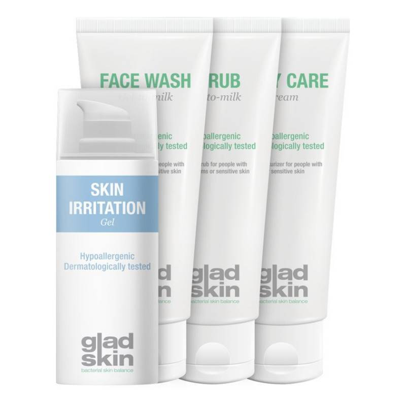Gladskin Gladskin SKIN IRRITATION Gel Care Set Large
