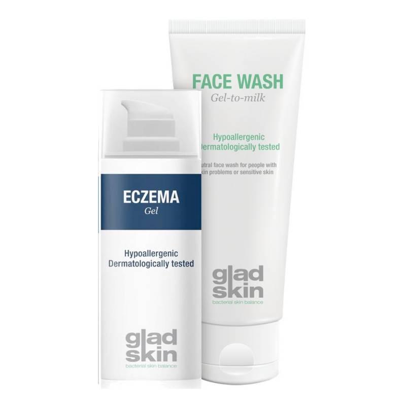 Image of Gladskin ECZEMA Gel Cleansing Set Large