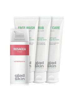 Gladskin Gladskin ROSACEA Crème Care Set Large