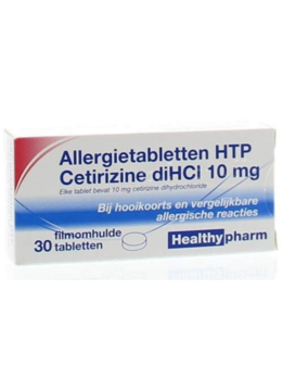 Healthypharm Allergietabletten HTP Cetirizine diHCl - 10 mg