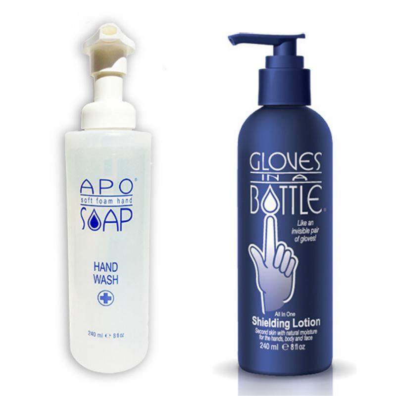 Image of Apo Foam Handzeep + Gloves in A Bottle - 2x240ml
