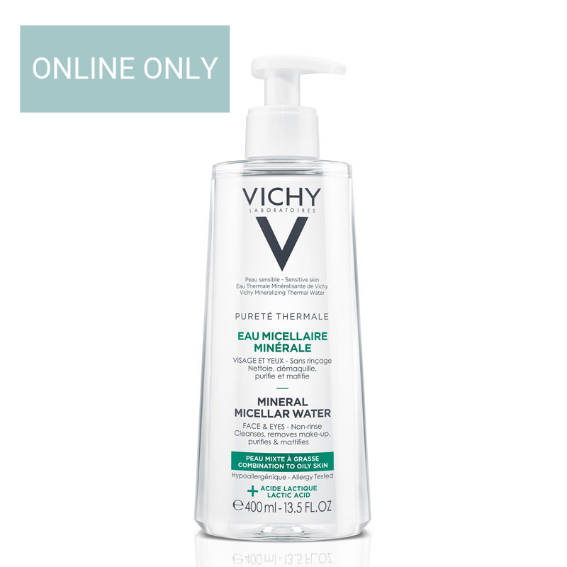 Image of Vichy Pureté Thermale Micellaire Mineraalwater Gemengde&Vette Huid - 2x400ml