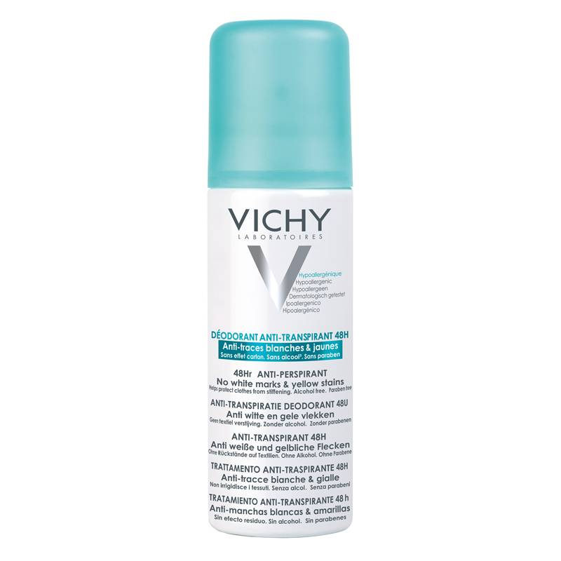 Image of Vichy Anti-transpirant Deodorant 48u Anti-witte en Gele Vlekken spray - 2x125ml