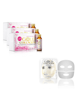 Gold Collagen Gold Collagen® Pure - 30 dagen kuur + Hydrogel Mask - 4st