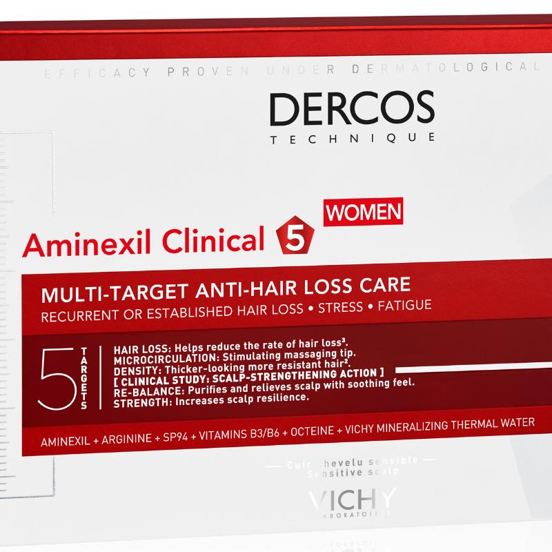Vichy Vichy DERCOS Aminexil Clinical 5 Haaruitval Vrouw - 21 ampullen