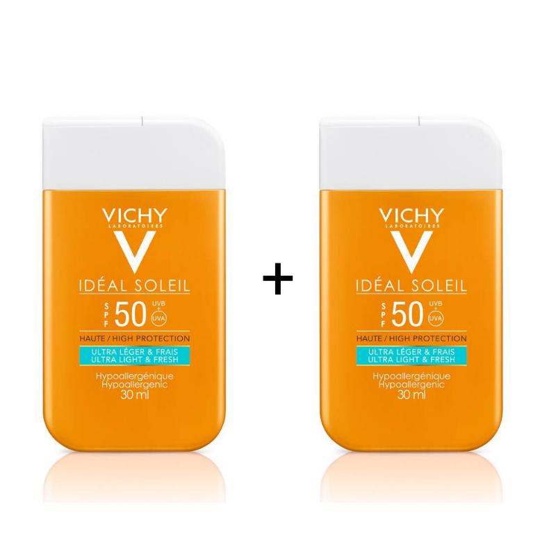 Vichy Vichy IDEAL SOLEIL Dry Touch Fluide SPF50 Pocketsize - 2x30ml