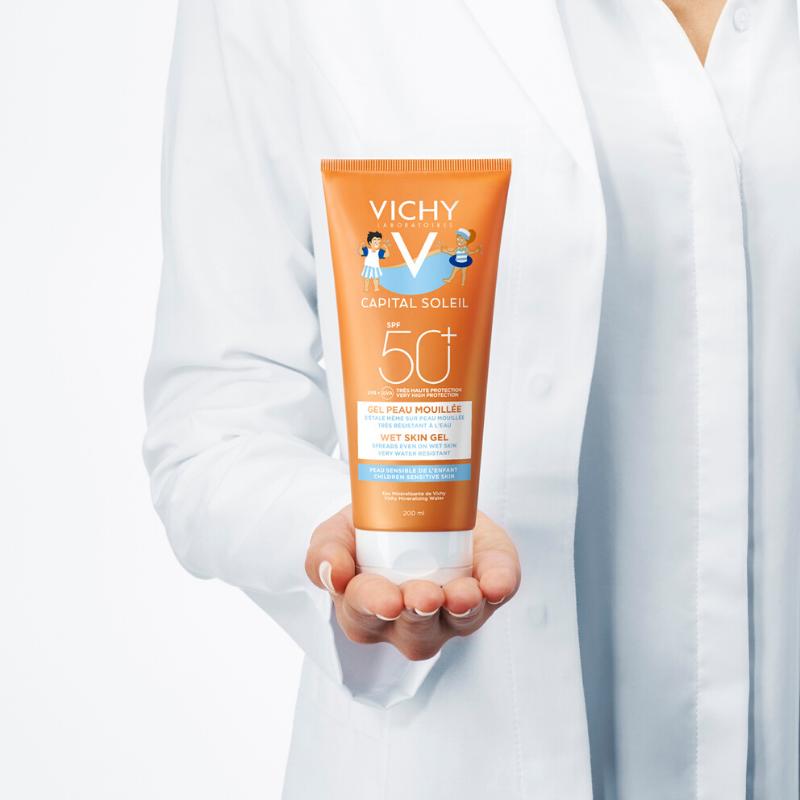 Vichy Vichy Capital Soleil Wet Skin Gel Kind SPF50+ - 2x200ml