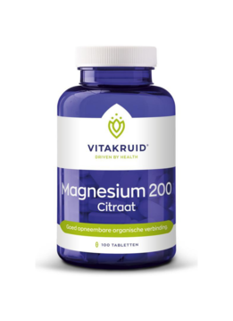 Vitakruid Vitakruid Magnesium 200 citraat - 100 tabletten