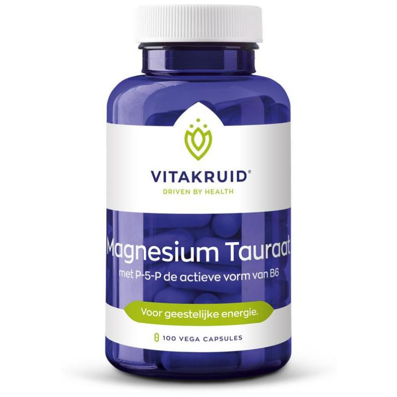 Vitakruid Vitakruid Magnesium tauraat met P-5-P - 100 vcaps
