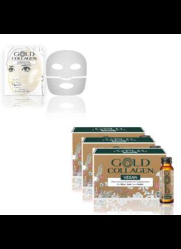 Gold Collagen Gold Collagen® Vegan - 30 dagen kuur + Hydrogel Mask - 4st