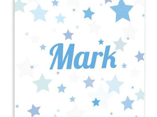 Muurdecoratie Kleurige sterren blauw