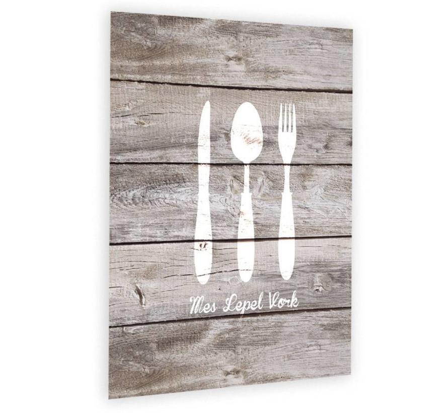 Muurdecoratie Voor Keuken.Muurdecoratie Voor De Keuken Mes Lepel Vork