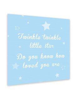 Muurdecoratie: Twinkle Twinkle Little Star - blauw