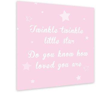 Muurdecoratie: Twinkle Twinkle Little Star - roze