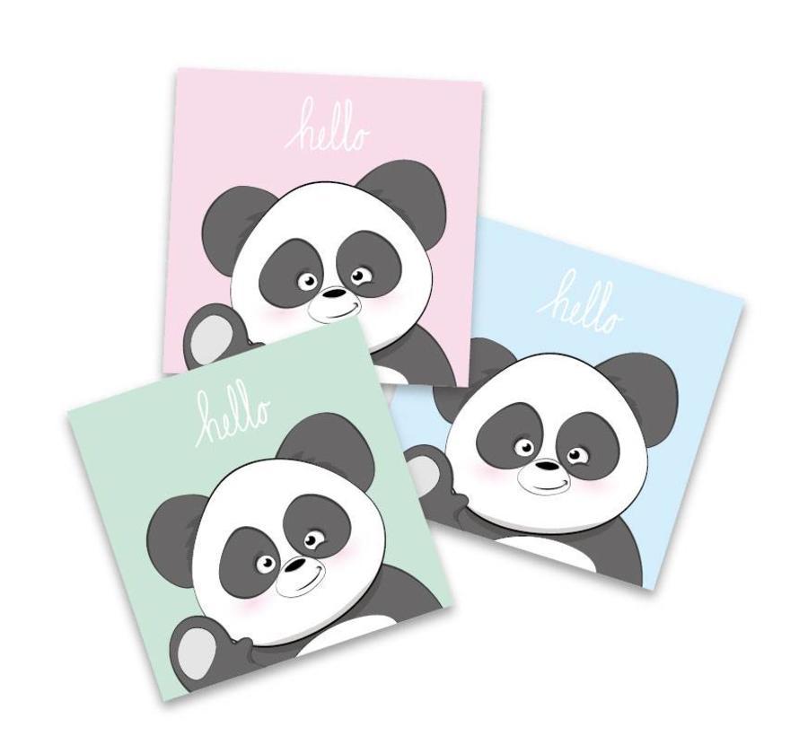 Muurdecoratie: Lieve Panda mintgroen