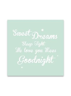 Lievespulletjes Muurdecoratie: Sweet Dreams mint met naam