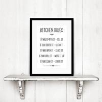 thumb-Keuken poster Kitchen Rules-3