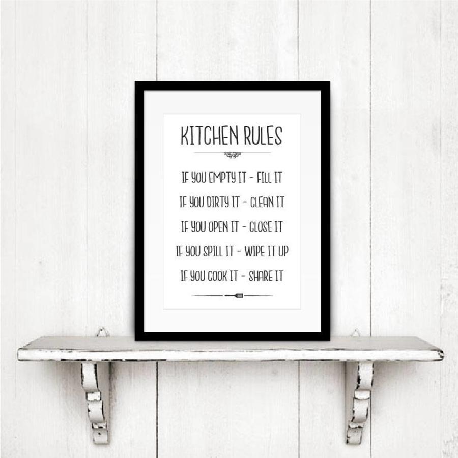 Keuken poster Kitchen Rules-3