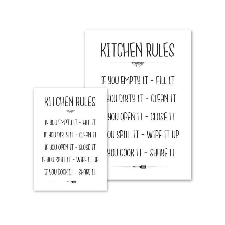 Keuken poster Kitchen Rules-4