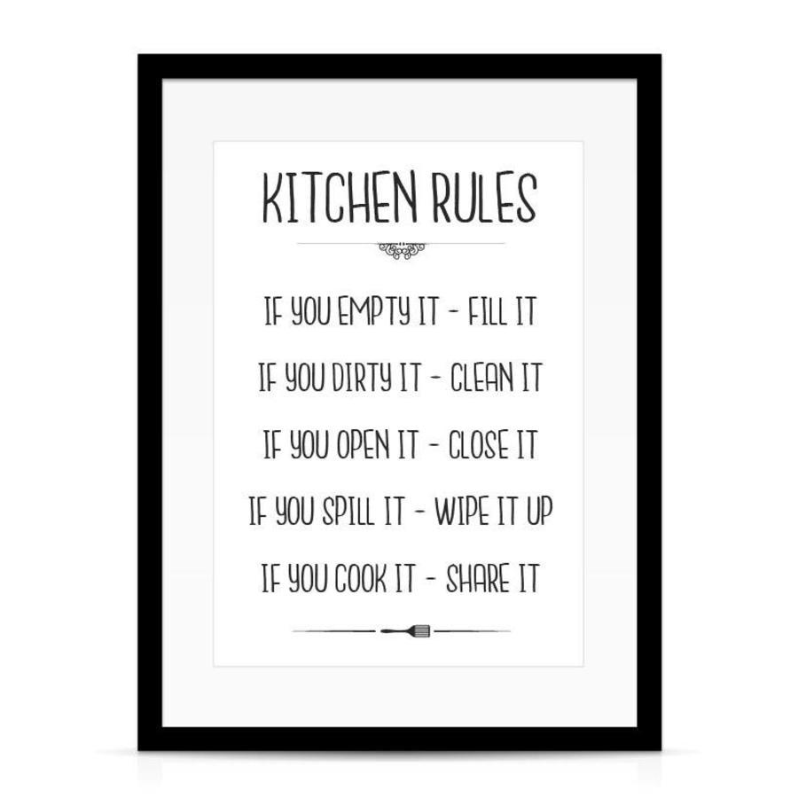 Keuken poster Kitchen Rules-2