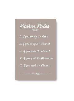 Muurdecoratie keuken: Kitchen Rules