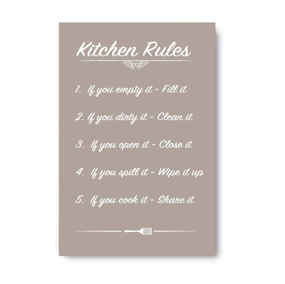 Muurdecoratie Voor Keuken.Keuken Muurdecoratie Kitchen Rules