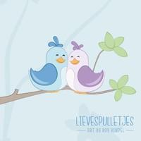 Poster babykamer vogeltjes