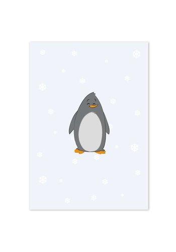 Poster babykamer pinguïn