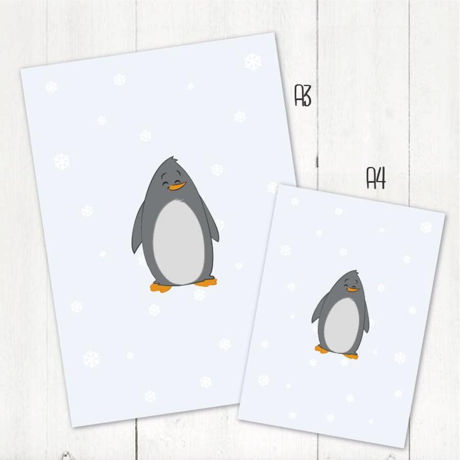 Poster babykamer pingquin