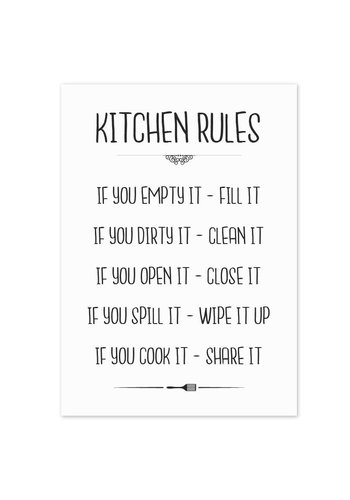 Keuken poster Kitchen Rules