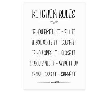 Lievespulletjes Keuken poster Kitchen Rules