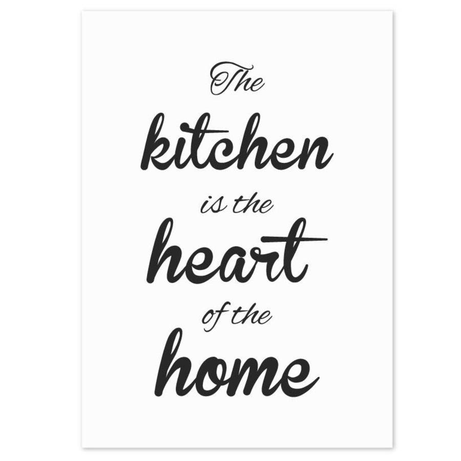 Keuken poster The kitchen  is the heart of the home-1
