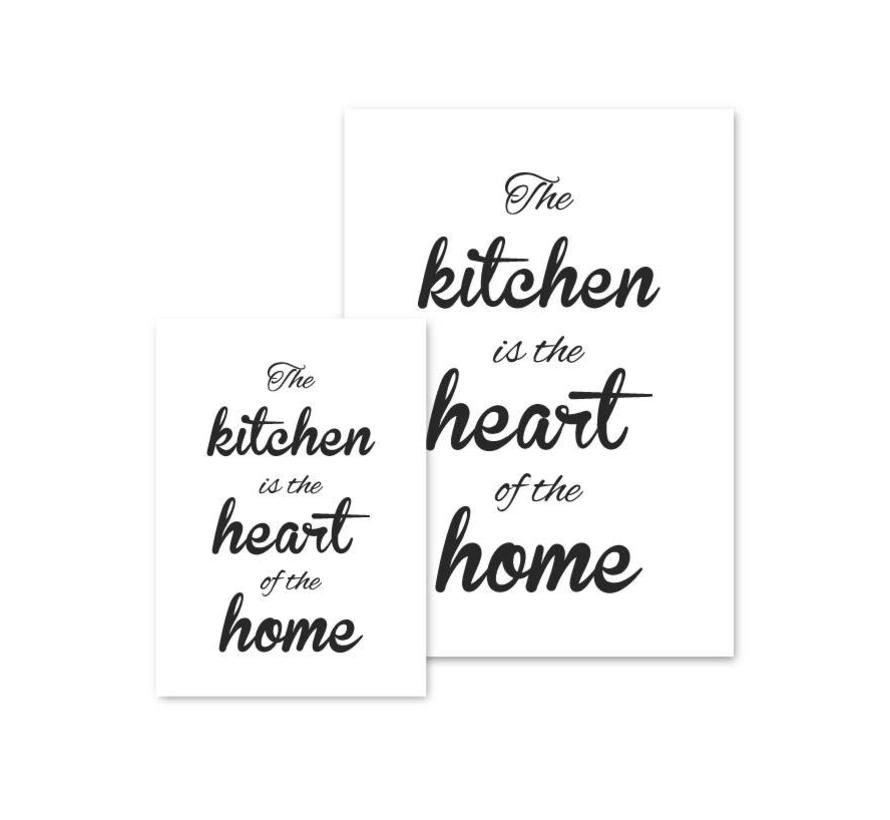 Keuken poster The kitchen  is the heart of the home