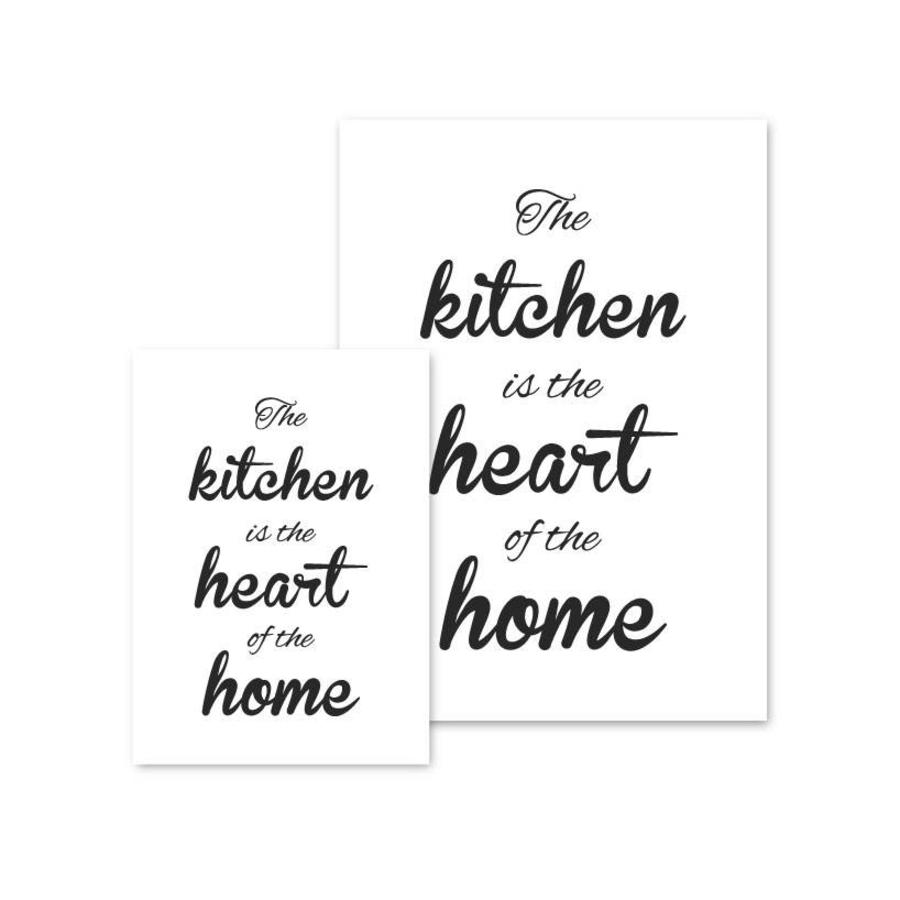 Keuken poster The kitchen  is the heart of the home-2