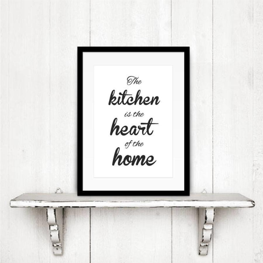 Keuken poster The kitchen  is the heart of the home-4