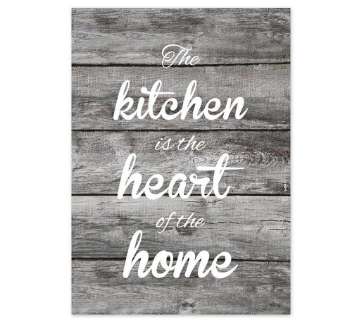 Lievespulletjes Keuken poster The kitchen  is the heart of the home - hout-look