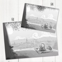 thumb-Roy Korpel original: schets uitzicht-2