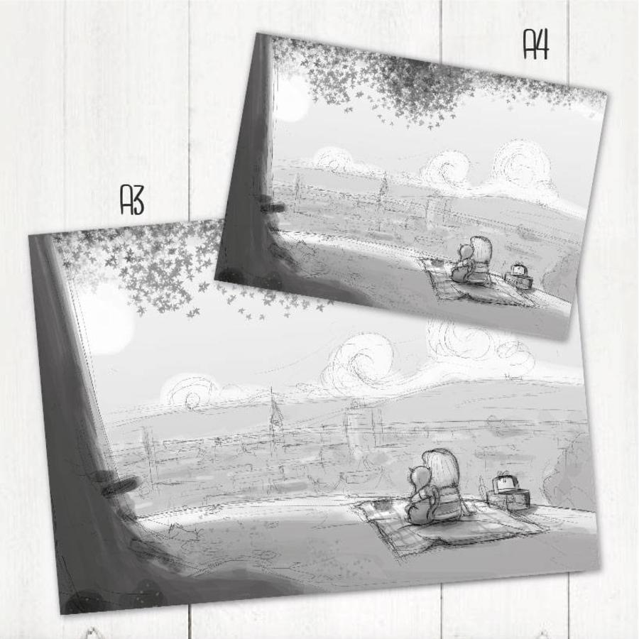 Roy Korpel original: schets uitzicht-2