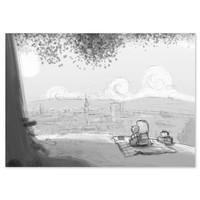 thumb-Roy Korpel original: schets uitzicht-1