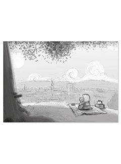 Lievespulletjes Roy Korpel original: schets uitzicht