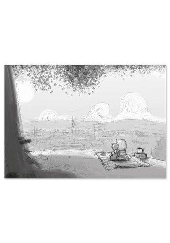 Roy Korpel original: schets uitzicht