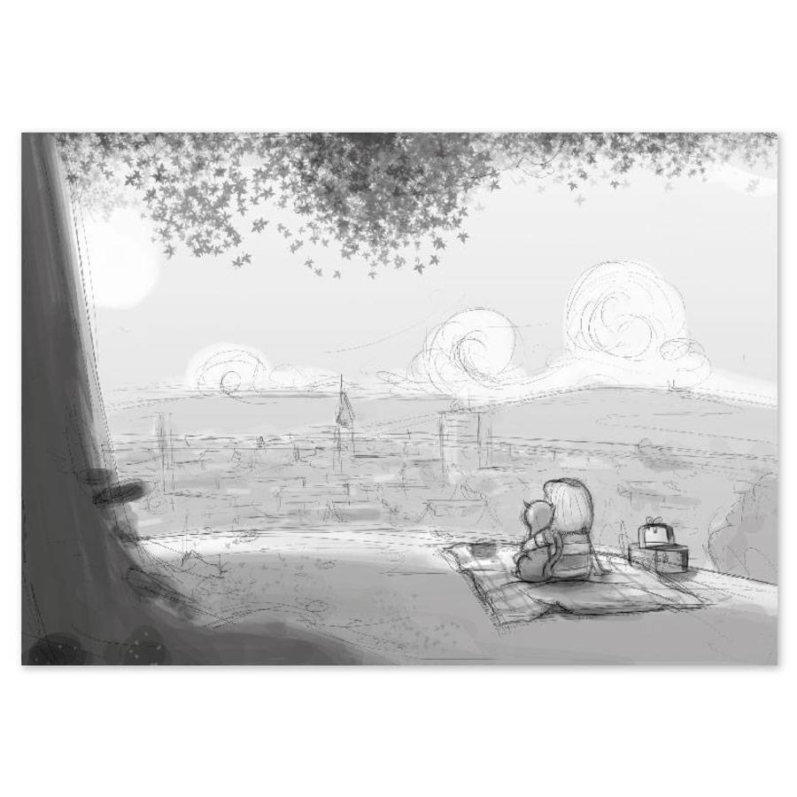 Roy Korpel original: schets uitzicht-1