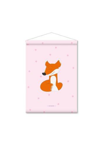 Kinderkamer banner vosje roze