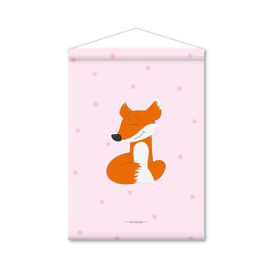 Kinderkamer banner vosje roze-1