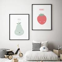 thumb-Poster babykamer aardbei - met tekst-3
