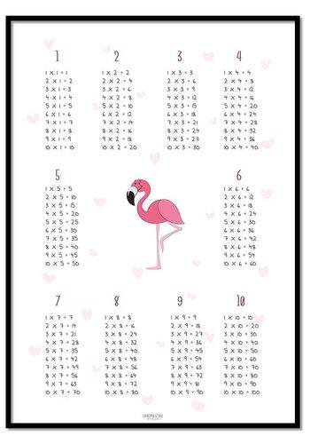 Tafelsommen poster flamingo