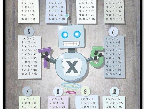 Lievespulletjes Tafelsommen poster robot