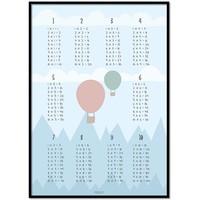 thumb-Tafelsommen poster kinderkamer luchtballon blauw-1